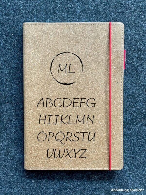 Buch mit Ledercover, Echtleder, Rindsleder, Wunschgravur, hochwertig, Initialen, Wunschname