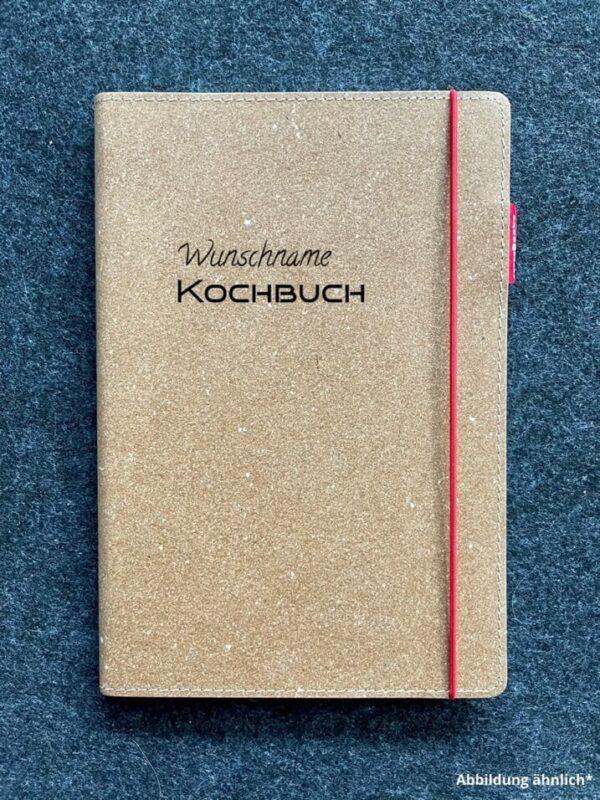 Buch mit Ledercover, Echtleder, Rindsleder, Wunschgravur, hochwertig, Kochbuch, Wunschname