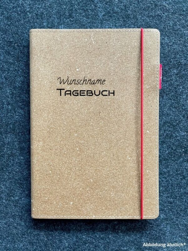 Buch mit Ledercover, Echtleder, Rindsleder, Wunschgravur, hochwertig, Tagebuch, Wunschname