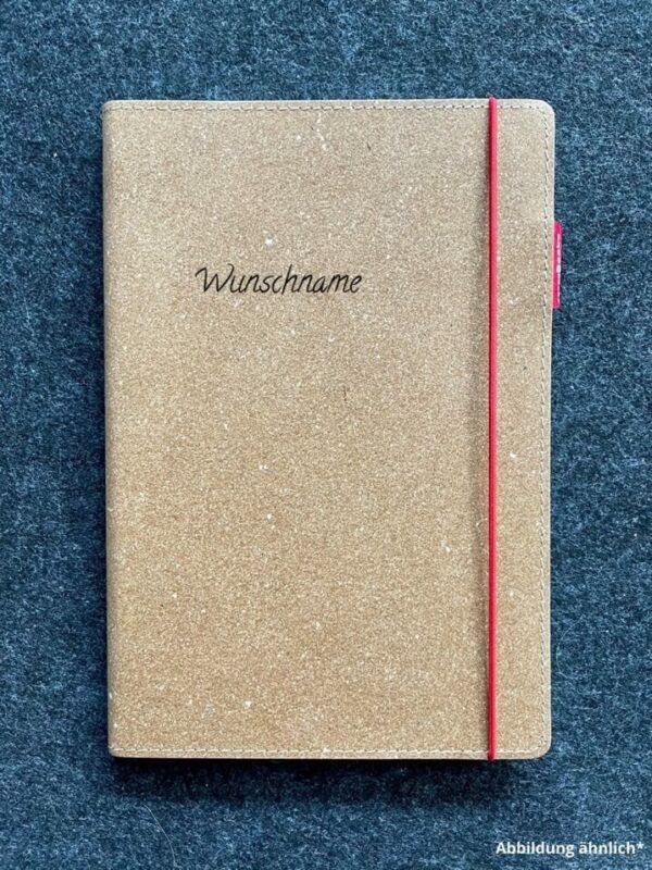 Buch mit Ledercover, Echtleder, Rindsleder, Wunschgravur, hochwertig, Wunschname