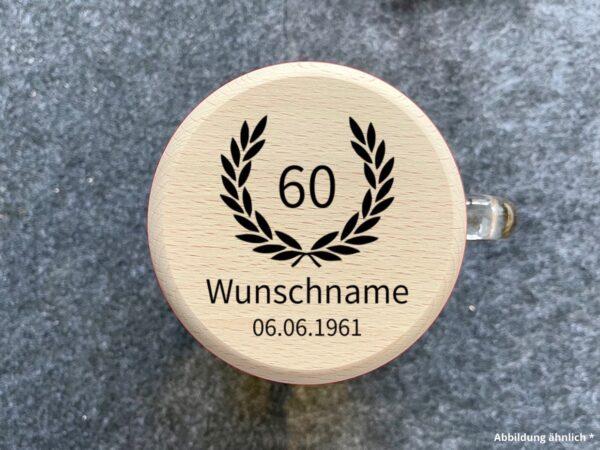Bierkrugdeckel mit Wunschgravur zum Geburtstag