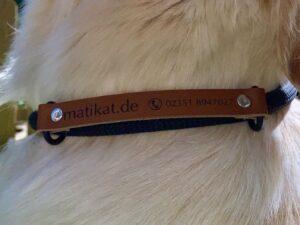 Erkennungsband für Hundehalsband mit Wunschgravur, braun