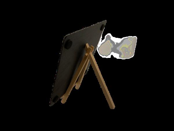 Schiefertafel mit Wunschgravur und Staffelei