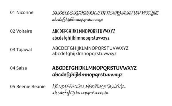 Schriftarten