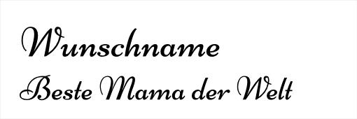 Wunschgravur Beste Mama der Welt