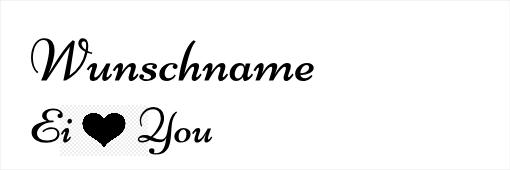 Wunschgravur Ei Love You