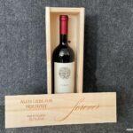 Weinkiste mit Schiebedeckel, Wunschgravur, Hochzeit, Wunschnamen, Wunschdatum, Weinbox, Geschenkverpackung Wein,